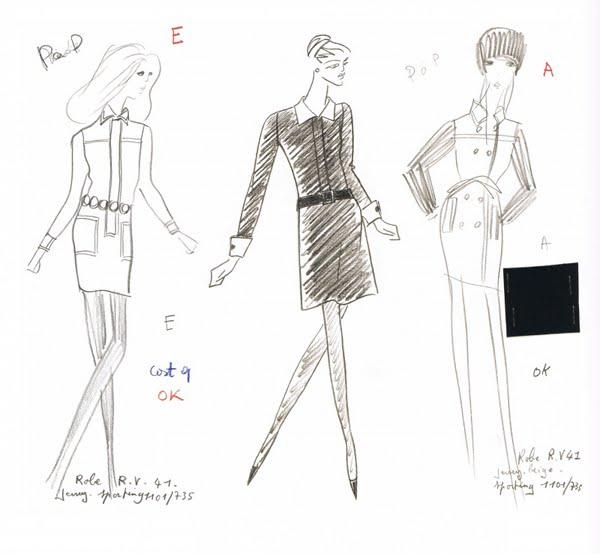L'évolution des dessins de mode dans le temps